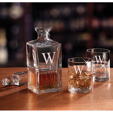 The Personalized Bohemian Crystal Decanter Set