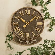 The Personalized Patio Clock (Geneva)