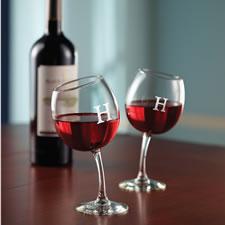 The Mirthful Sommelier's Monogrammed Wine Glasses