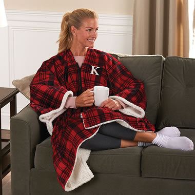 The Monogrammed Wearable Blanket