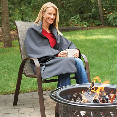 The Monogrammed Cordless Heated Throw