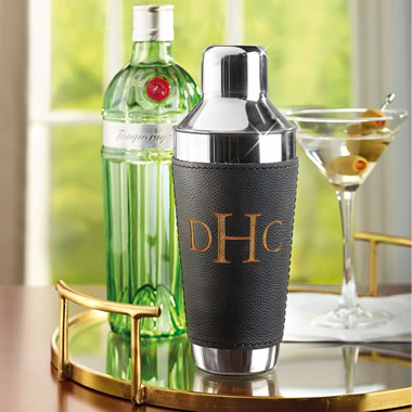 The Gentleman's Monogrammed Cocktail Shaker