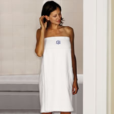 The Monogrammed Hammacher Schlemmer Genuine Turkish Cotton Luxury Shower Wrap (Women's)