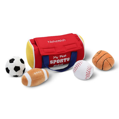 The Child's Personalized Plush Sports Bag