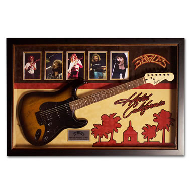 The Eagles Hotel California Autographed Guitar