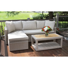 The All Weather Wicker And Teak Sectional Set