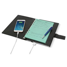 The Personalized Device Charging Notebook