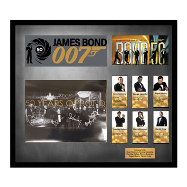 50 Years Of James Bond Autographed Photo
