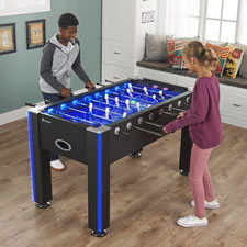 The Glowing Foosball Table