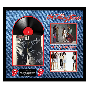The Rolling Stone Autographed Sticky Fingers Album