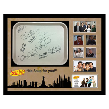 Seinfeld Cast Autographed Diner Tray