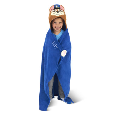 The Personalized PAW Patrol Hooded Blanket