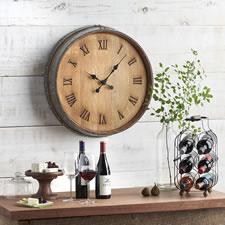 The Napa Valley Wine Barrel Clock
