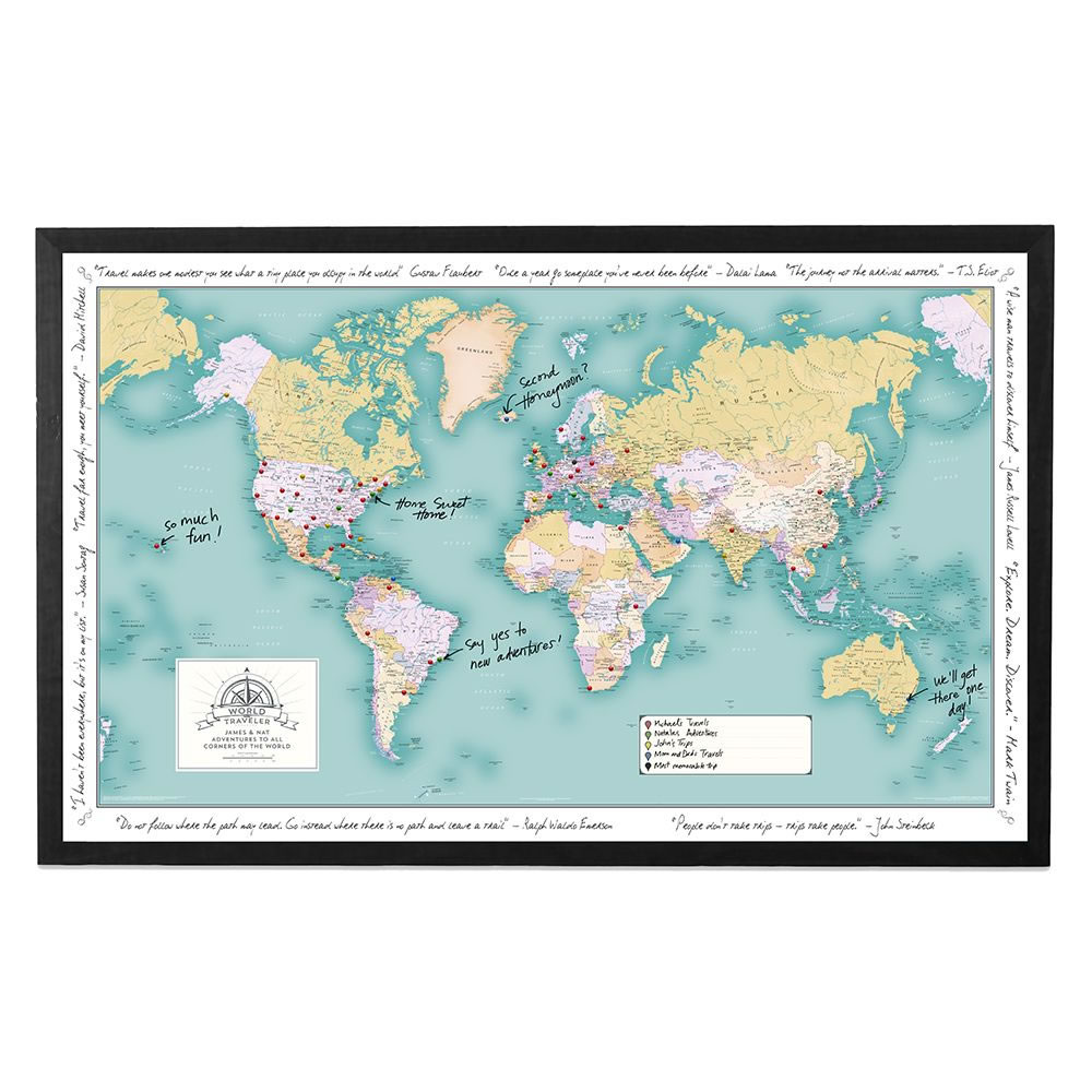 The Custom Description Travel World Map