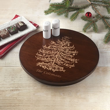 The Personalized Holiday Lazy Susan
