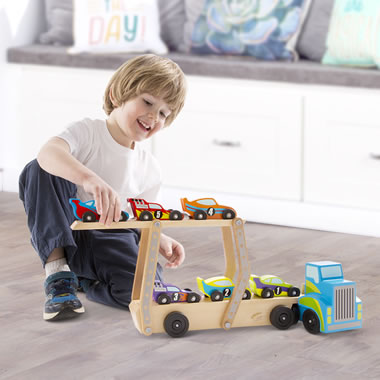 Personalized Wooden Race Car Set