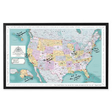 The Custom Description Travel U.S. Map