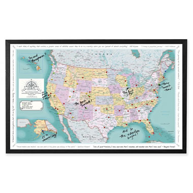 The Custom Description Travel U.S. Map