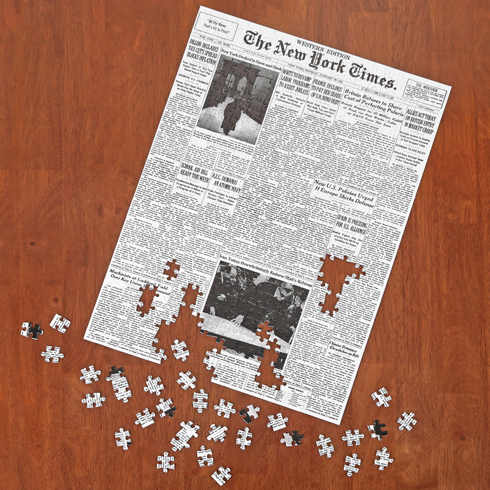 Nyc Christmas Tree Delivery: The New York Times Jigsaw Puzzle Of Your Birth Date