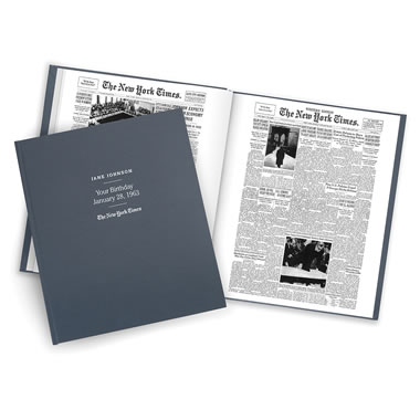 The New York Times Of Your Birthdays - Cover and interior page
