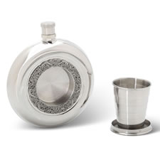 The Book Of Kells Monogrammed Flask And Dram