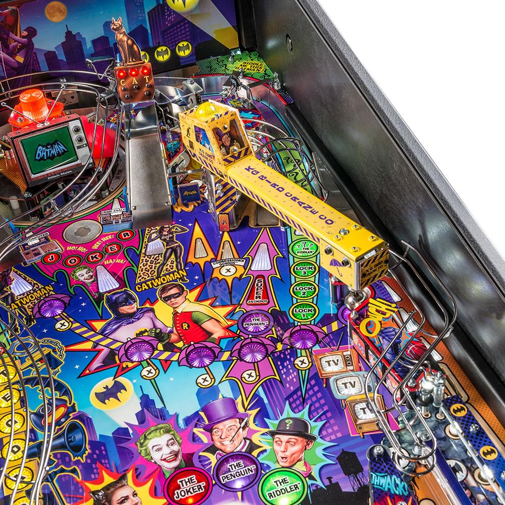 The Sock, Biff, Pow Batman Pinball Machine - Hammacher Schlemmer