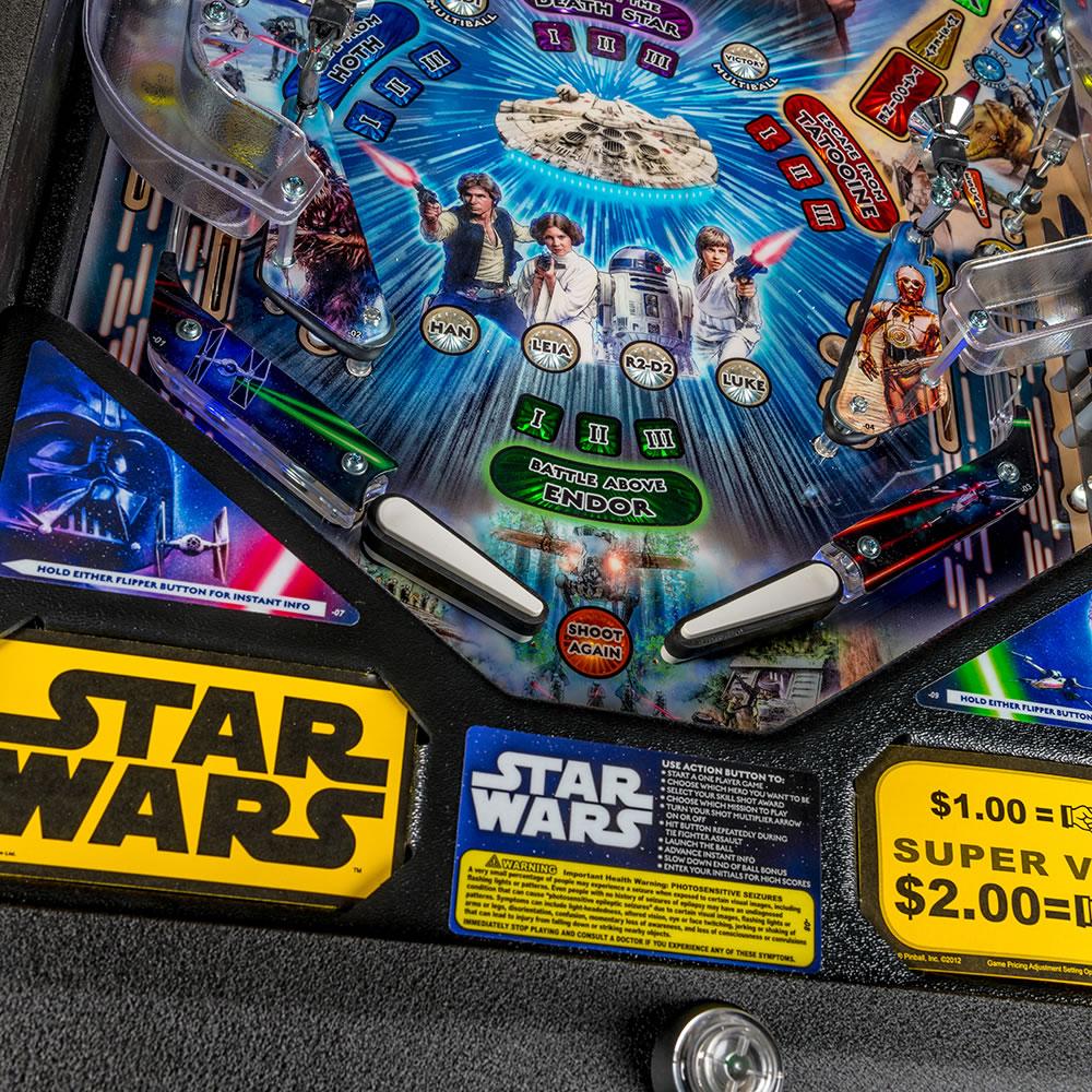 Star Wars Pinball Machine >> The Star Wars Pinball Machine Hammacher Schlemmer