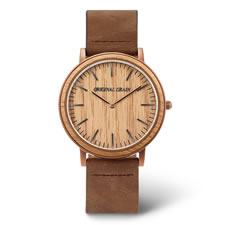 The Whiskey Barrel Watch (Leather Band)