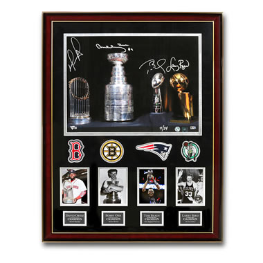 The Boston Sports Legends Autographed Photo Collage