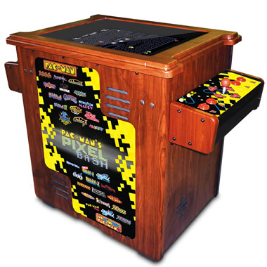 The Authentic Pac-Man Arcade Cocktail Table Wood Finish