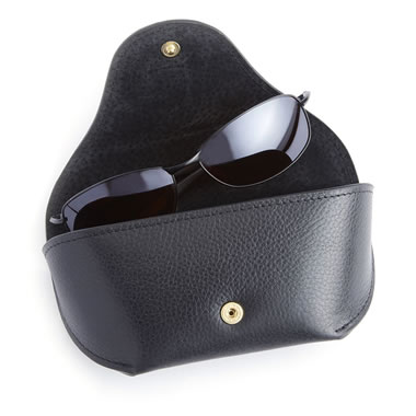 The Monogrammed Leather Sunglasses Case