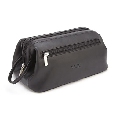 The Monogrammed Vaquetta Leather Grooming Bag