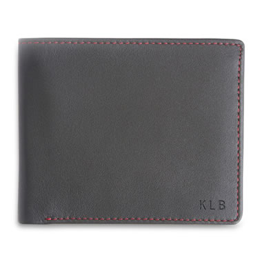 The Monogrammed Leather RFID Bifold Wallet