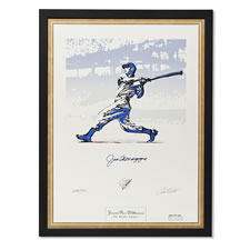The Joe DiMaggio Autographed Lithograph