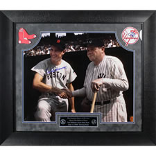 The Autographed Ted Meets Babe Color Photo