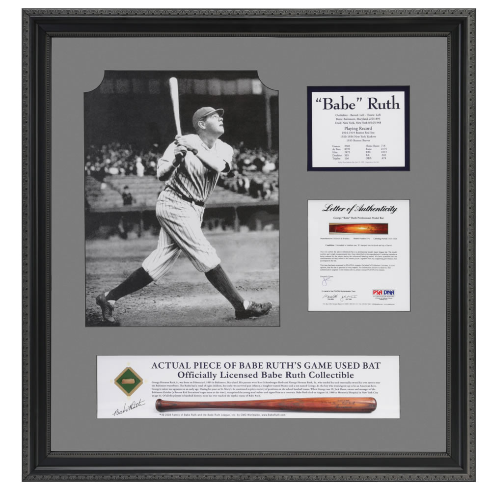 best sneakers 3ce79 ab89f Babe Ruth's Authentic Game Use Bat Artifact
