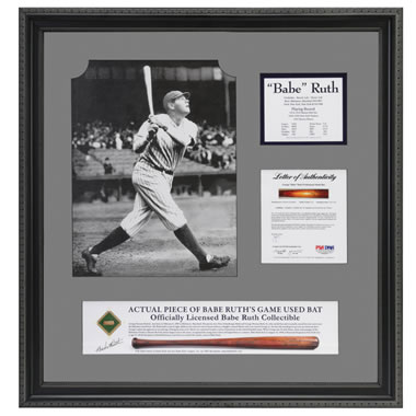 Authentic Game Used Babe Ruth Bat Fragment