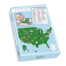 The Personalized Fun Fact State Jigsaw Puzzle