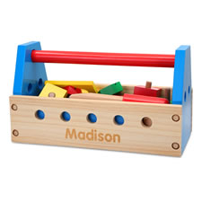 The Child's Own Wooden Take Along Toolbox