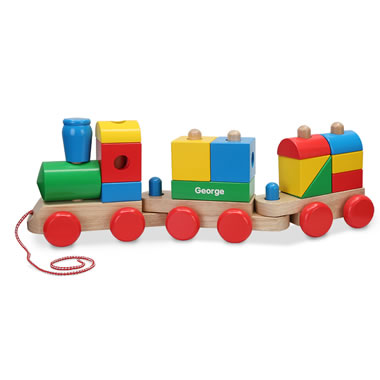 The Personalized Wooden Stacked Train