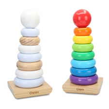 The Personalized Classic Wooden Stacker