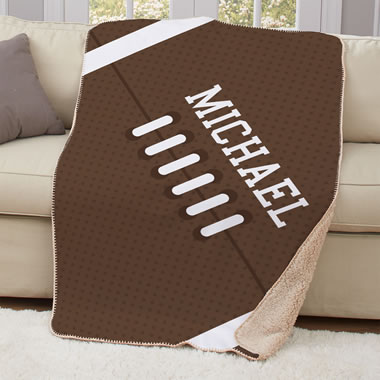 The Child's Personalized Football Blanket