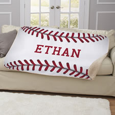 The Child's Personalized Baseball Blanket
