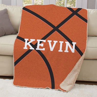 The Child's Personalized Basketball Blanket