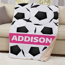 The Child's Personalized Soccer Blanket