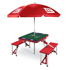 The NFL Tailgater's Table And Umbrella
