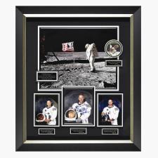 The Autographed Apollo 11 Lunar Landing Photograph