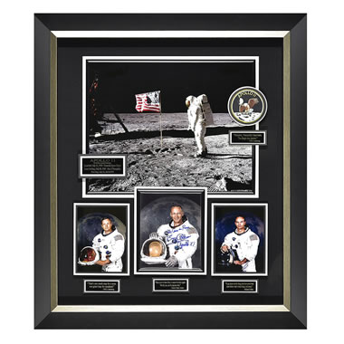 The Autographed Apollo 11 Lunar Landing Photograph