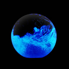 The Living Bioluminescent Globe