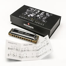 The Handcrafted Billy Joel Signature Harmonica